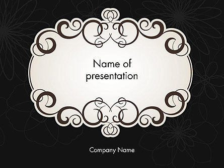 Black and White Quinceanera Frame PowerPoint Template, 13724, Abstract/Textures — PoweredTemplate.com