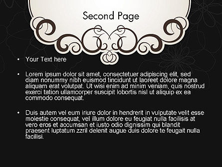 Black and White Quinceanera Frame PowerPoint Template, Slide 2, 13724, Abstract/Textures — PoweredTemplate.com