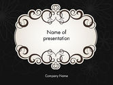Abstract/Textures: Black and White Quinceanera Frame PowerPoint Template #13724