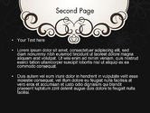 Black and White Quinceanera Frame PowerPoint Template#2