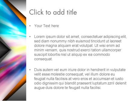 Motion Blur Abstract PowerPoint Template, Slide 3, 13725, Abstract/Textures — PoweredTemplate.com