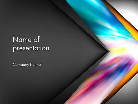 Abstract/Textures: Motion Blur Abstract PowerPoint Template #13725