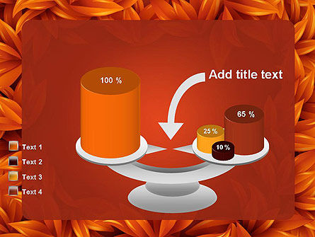 Orange Leaves Frame PowerPoint Template Slide 10