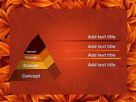Orange Leaves Frame PowerPoint Template Slide 12