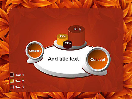 Orange Leaves Frame PowerPoint Template Slide 16