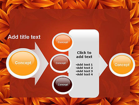Orange Leaves Frame PowerPoint Template Slide 17