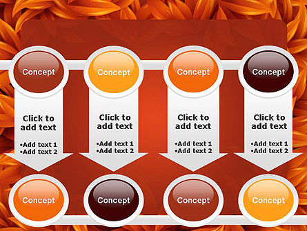 Orange Leaves Frame PowerPoint Template Slide 18