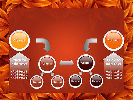 Orange Leaves Frame PowerPoint Template Slide 19