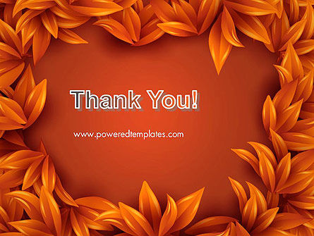 Orange Leaves Frame PowerPoint Template Slide 20