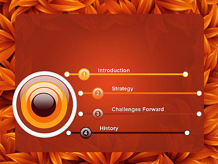 Orange Leaves Frame PowerPoint Template Slide 3