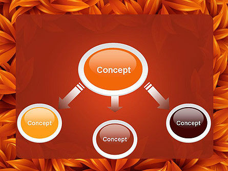 Orange Leaves Frame PowerPoint Template Slide 4