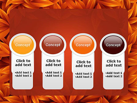 Orange Leaves Frame PowerPoint Template Slide 5