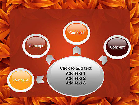 Orange Leaves Frame PowerPoint Template Slide 7