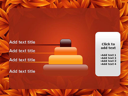 Orange Leaves Frame PowerPoint Template Slide 8