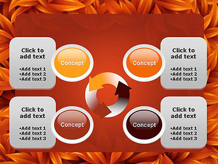 Orange Leaves Frame PowerPoint Template Slide 9