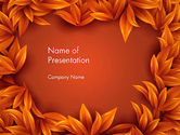 Abstract/Textures: Orange Leaves Frame PowerPoint Template #13726