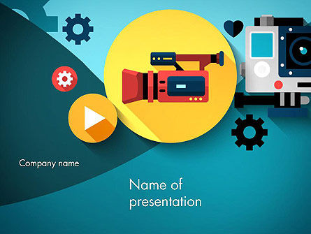 Video Gadgets PowerPoint Template, 13728, Careers/Industry — PoweredTemplate.com