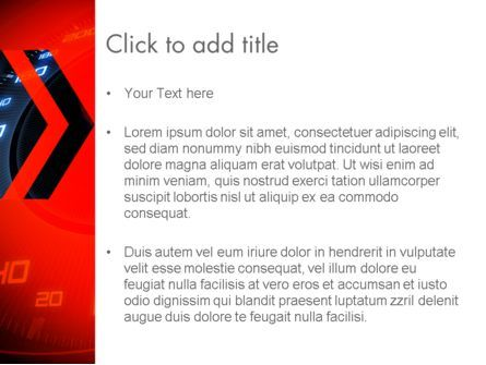 Speed PowerPoint Template, Slide 3, 13729, Sports — PoweredTemplate.com