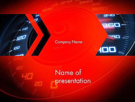 Speed PowerPoint Template, 13729, Sports — PoweredTemplate.com
