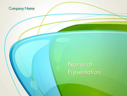 Bubble and Lines Abstract PowerPoint Template, 13730, Abstract/Textures — PoweredTemplate.com