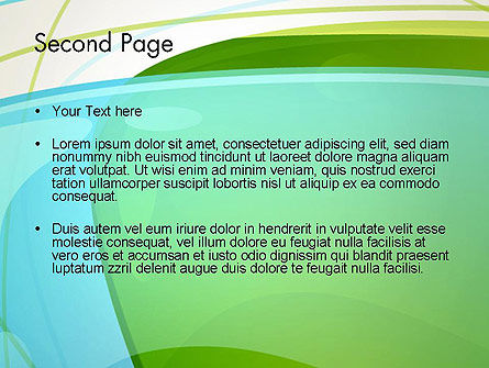 Bubble and Lines Abstract PowerPoint Template Slide 2