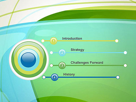 Bubble and Lines Abstract PowerPoint Template Slide 3