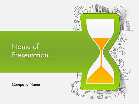 Time Glass PowerPoint Template, 13731, Business Concepts — PoweredTemplate.com