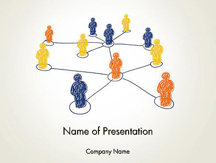 People Network Connections PowerPoint Template, 13732, Business Concepts — PoweredTemplate.com