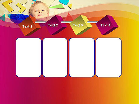 Boy with Tangram Puzzles PowerPoint Template Slide 18