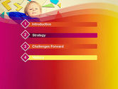 Boy with Tangram Puzzles PowerPoint Template#3