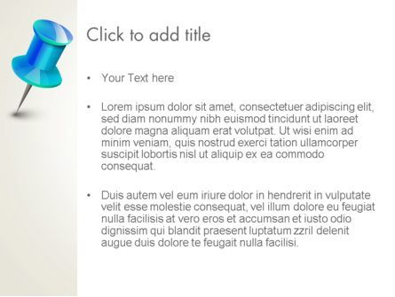 Blue Pin PowerPoint Template, Slide 3, 13734, Business Concepts — PoweredTemplate.com