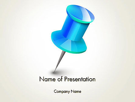 Business Concepts: Blue Pin PowerPoint Template #13734
