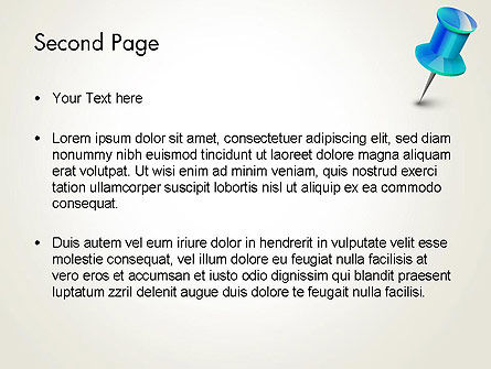 Blue Pin PowerPoint Template Slide 2