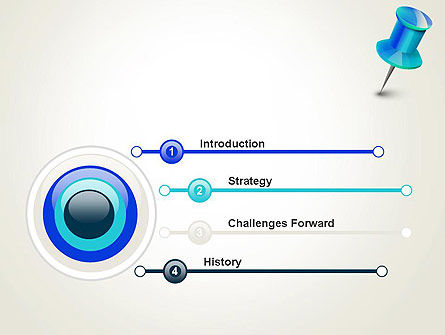 Blue Pin PowerPoint Template, Slide 3, 13734, Business Concepts — PoweredTemplate.com