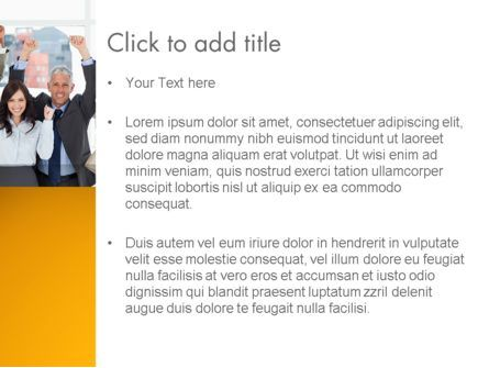Rejoicing Business People PowerPoint Template, Slide 3, 13735, People — PoweredTemplate.com