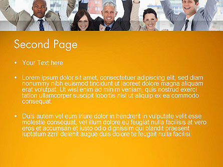 Rejoicing Business People PowerPoint Template, Slide 2, 13735, People — PoweredTemplate.com