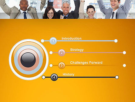 Rejoicing Business People PowerPoint Template, Slide 3, 13735, People — PoweredTemplate.com