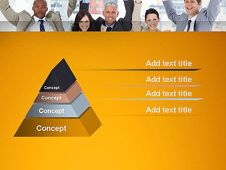 Rejoicing Business People PowerPoint Template, Slide 4, 13735, People — PoweredTemplate.com