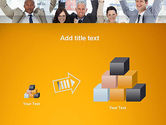 Rejoicing Business People PowerPoint Template#13