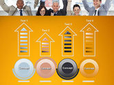 Rejoicing Business People PowerPoint Template#7