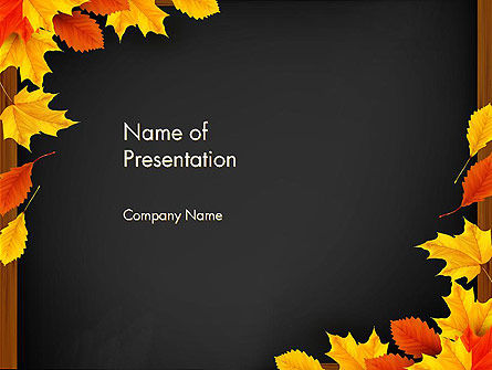 Abstract/Textures: Back To School Themed Frame PowerPoint Template #13737