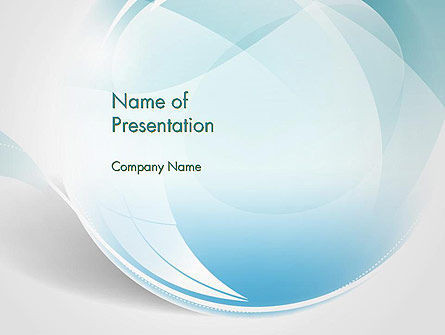 Water Drop Themed Abstract PowerPoint Template, 13738, Abstract/Textures — PoweredTemplate.com