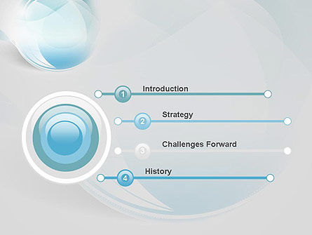 Water Drop Themed Abstract PowerPoint Template Slide 3