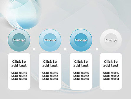 Water Drop Themed Abstract PowerPoint Template Slide 5