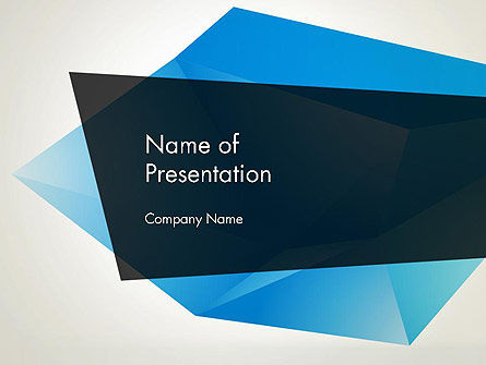 Abstract Broken Ice PowerPoint Template