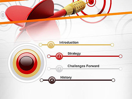 Multiple Targets PowerPoint Template, Slide 3, 13742, Business Concepts — PoweredTemplate.com