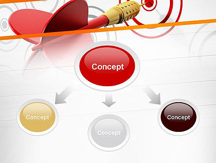 Multiple Targets PowerPoint Template, Slide 4, 13742, Business Concepts — PoweredTemplate.com