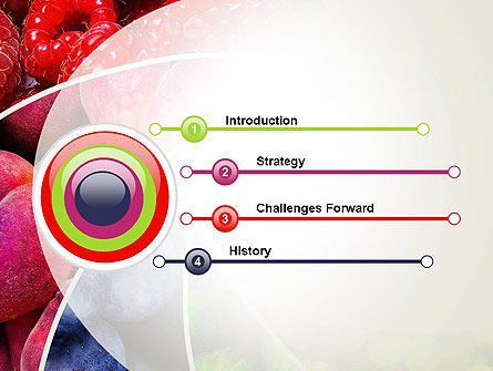 Fruits Swirl PowerPoint Template Slide 3