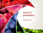 Food & Beverage: Vruchten Wervelen PowerPoint Template #13743