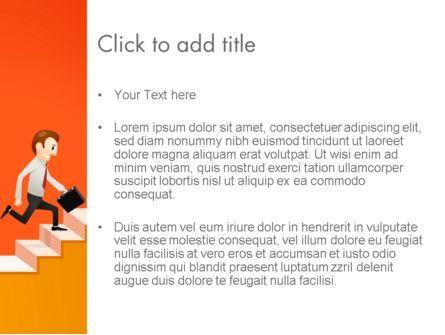 Climbing Ladder Illustration PowerPoint Template, Slide 3, 13744, Careers/Industry — PoweredTemplate.com